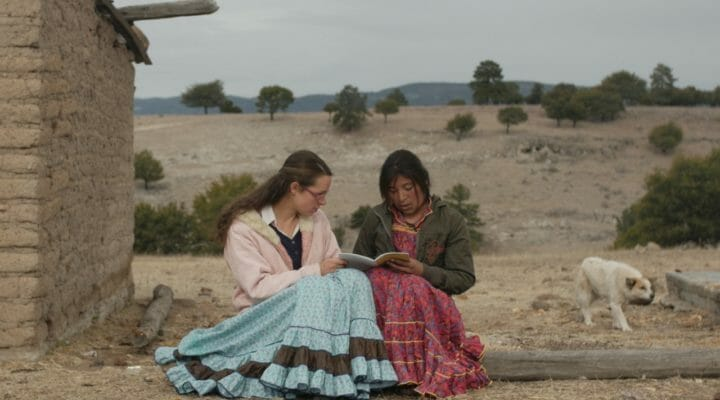 Missionary reads with Tarahumara woman