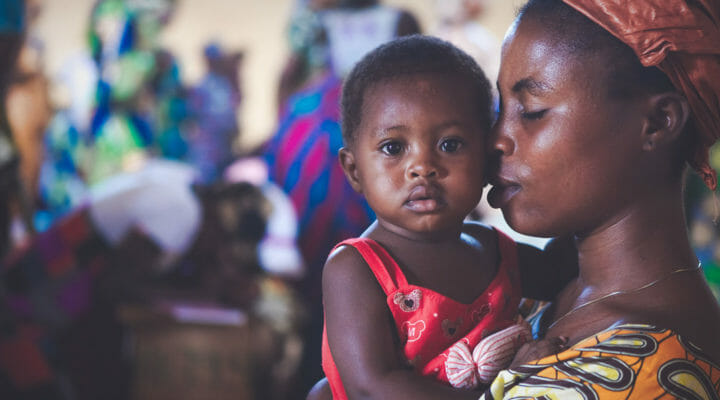 West Afriacan woman and baby