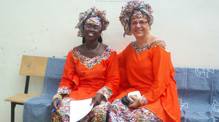 Cross-cultural disciple-maker with West African friend
