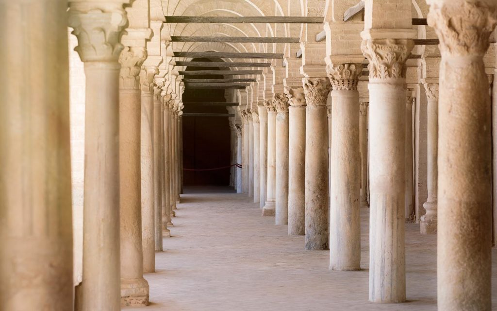 pillars of mosque in North Africa