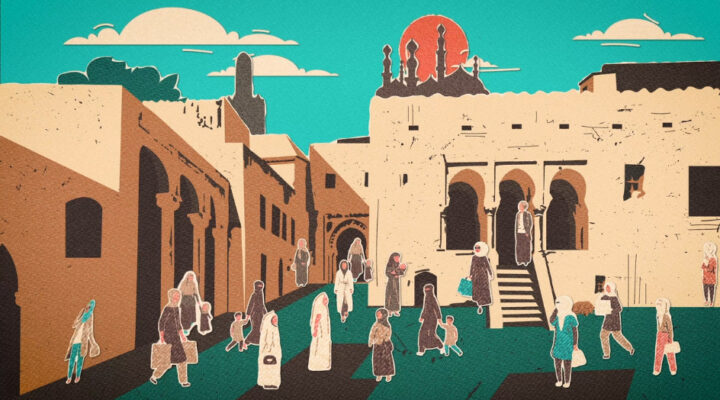 Prayer changed the church in a North African city - animated village scene